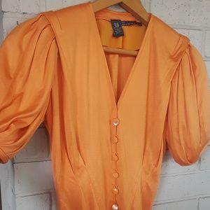 Vintage Emanuel Ungaro Peachy/orange Vneck
